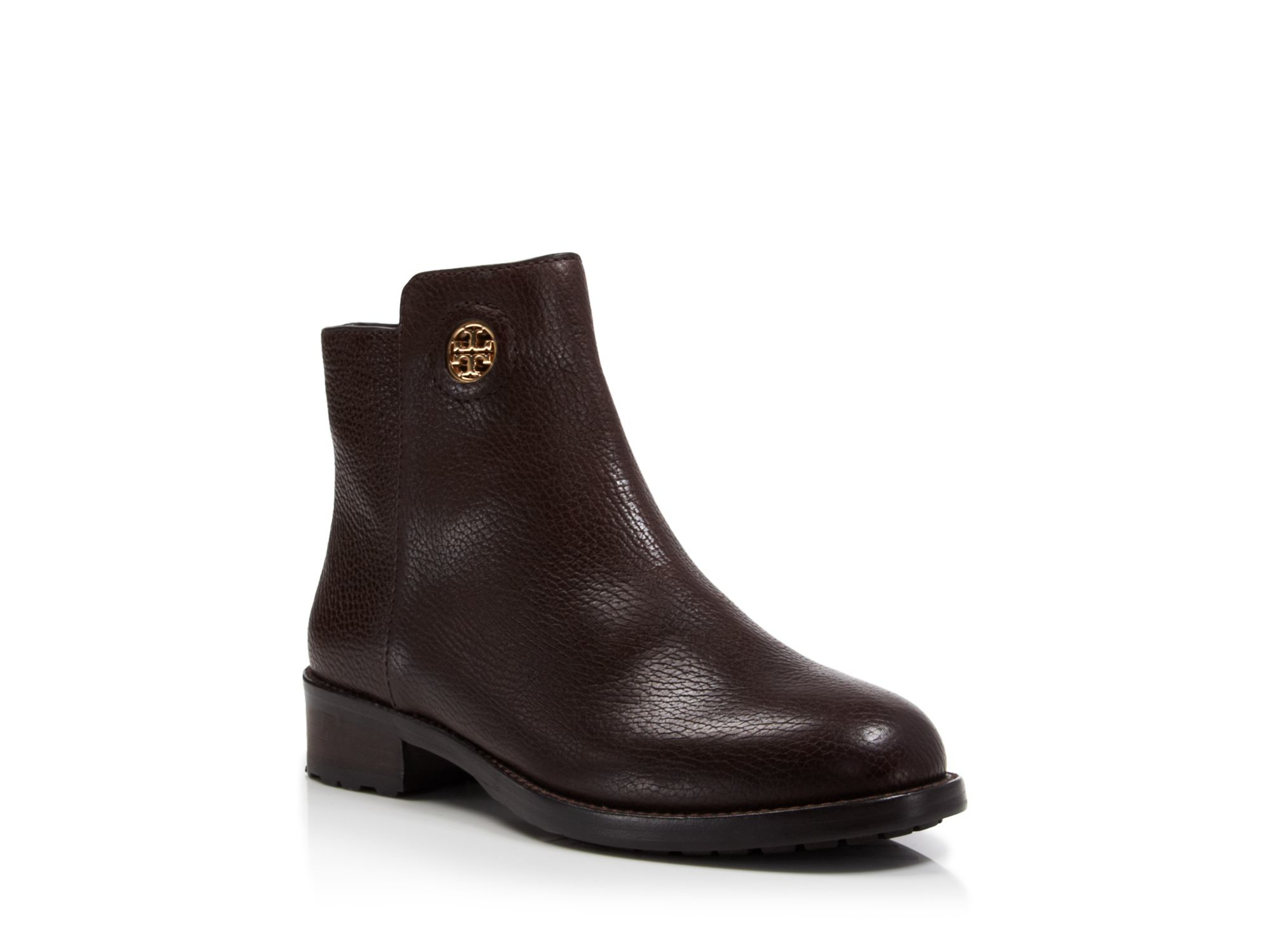 8f82b5c22d66 Lyst - Tory Burch Booties - Junction Flat in Brown