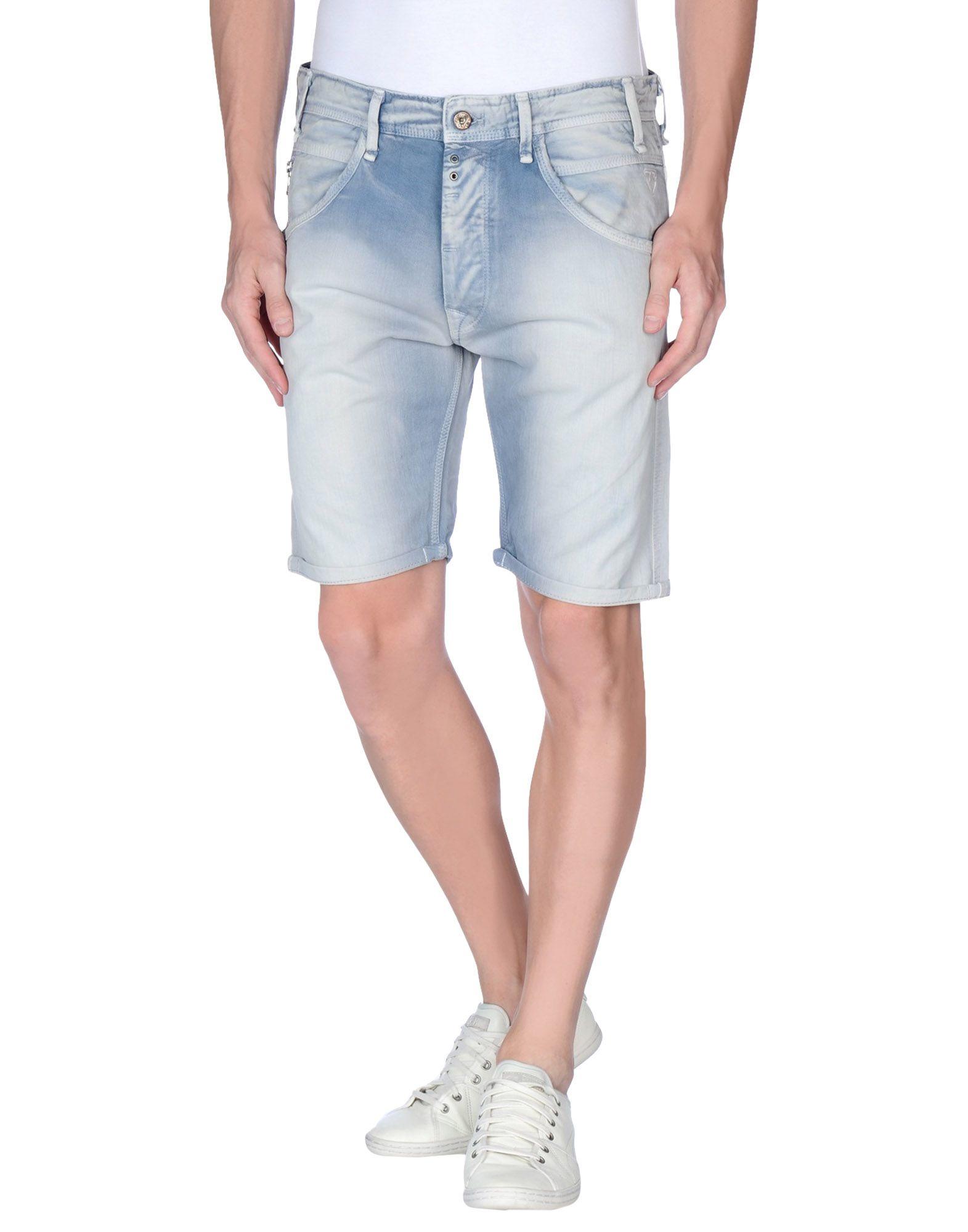 lyst pepe jeans denim bermudas in blue for men. Black Bedroom Furniture Sets. Home Design Ideas