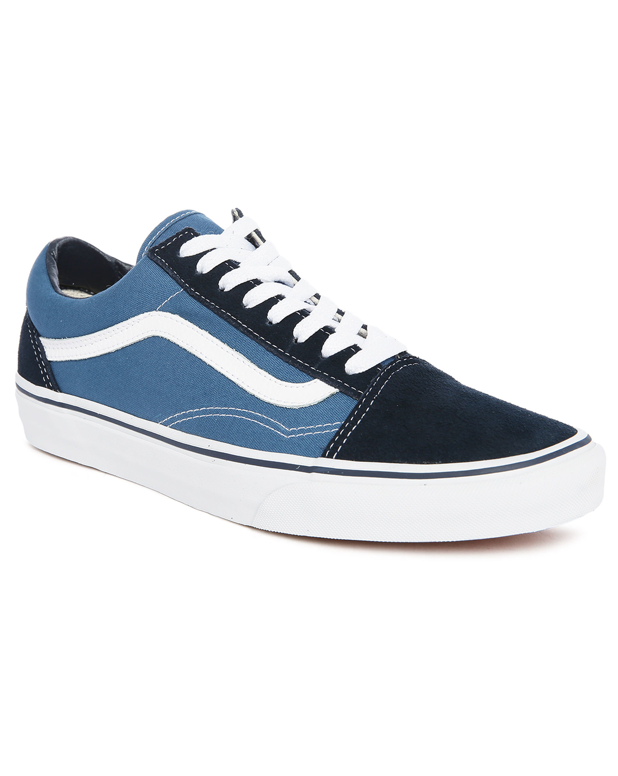 vans blackblue old skool suede canvas sneakers in blue
