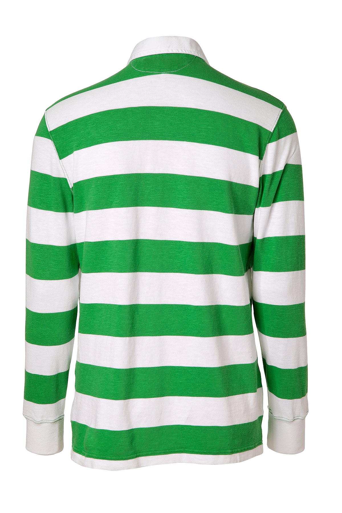 Ralph lauren Signal Greenwhite Striped Cotton Rugby Shirt in Green ...