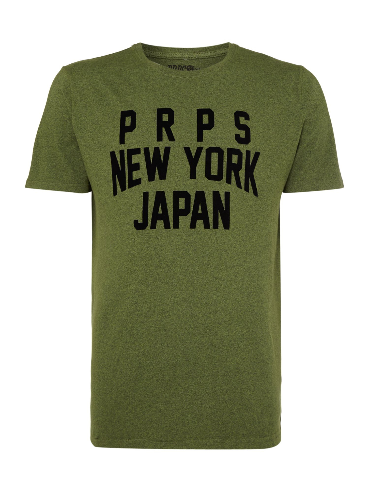 Prps new york japan printed tshirt in green for men lyst for New york printed t shirts