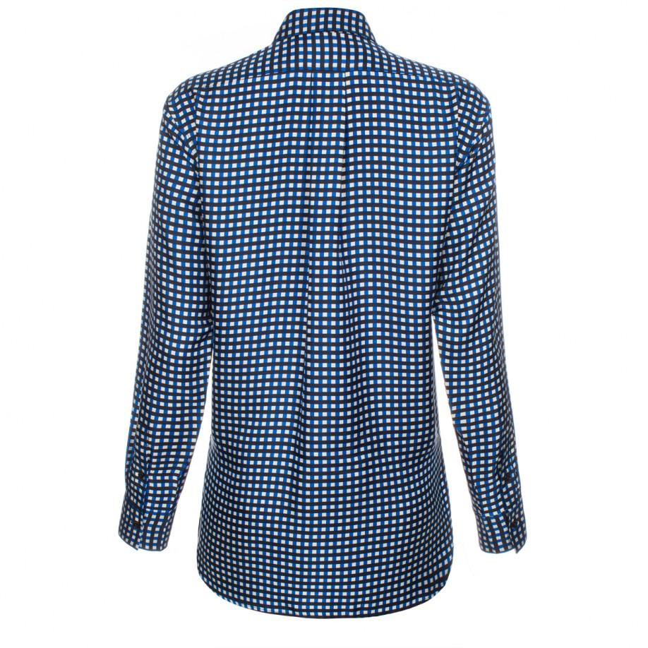 Paul Smith Women 39 S Blue Check Silk Shirt In Black For Men