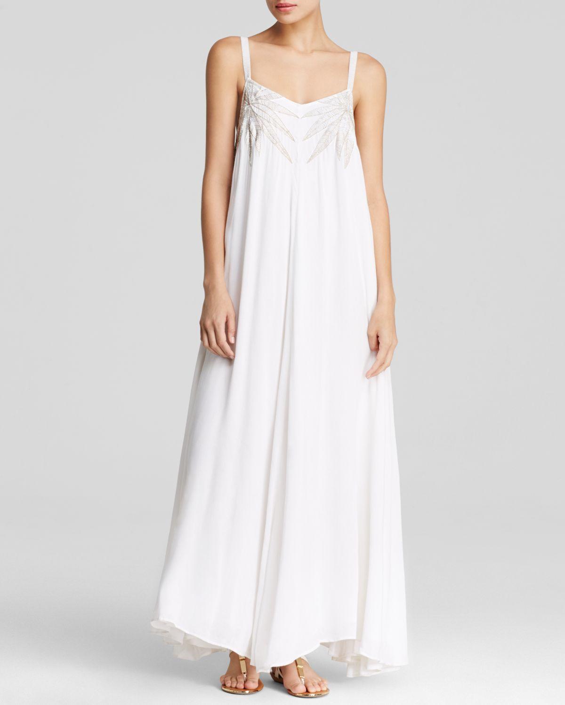 Collection White Gauze Maxi Dress Pictures - Reikian