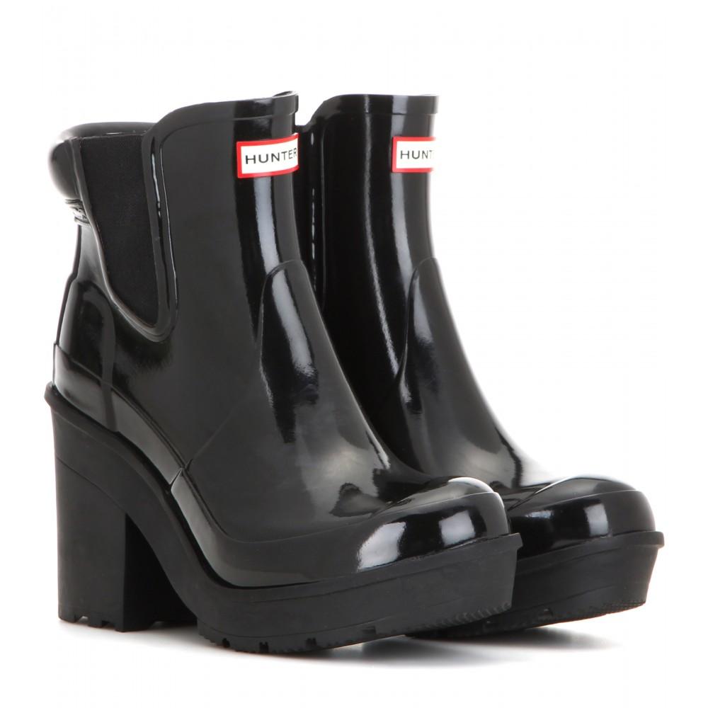 c2298237f213 HUNTER Original Rubber Chelsea Boots in Black - Lyst