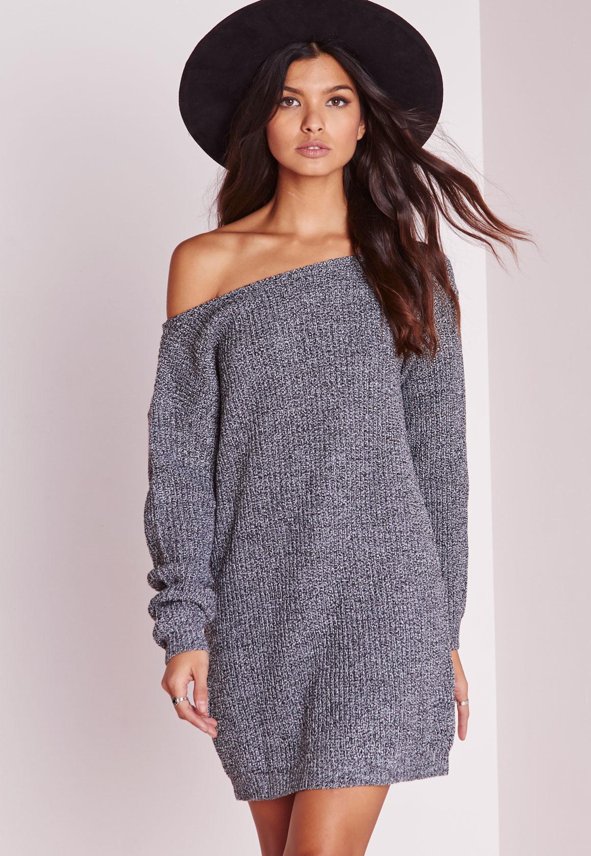 plus jumper dress grey