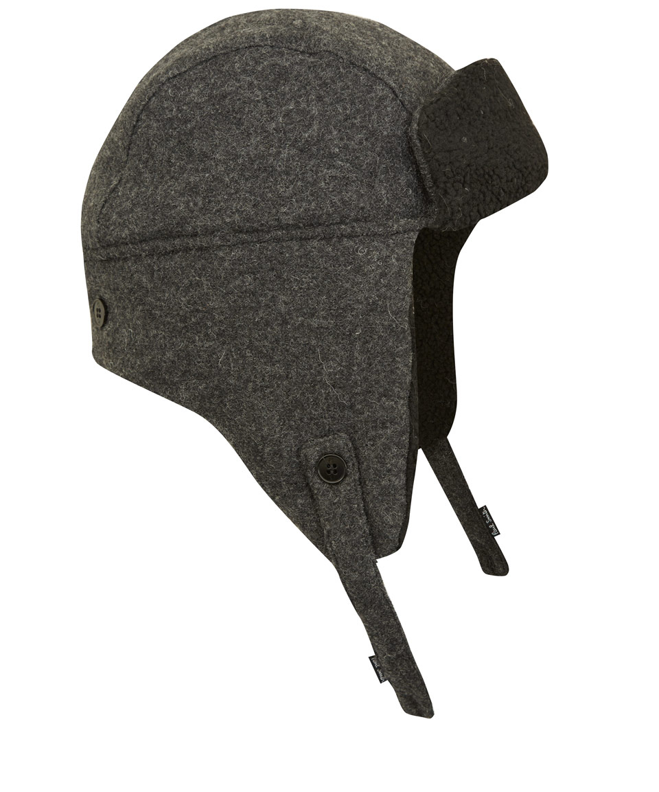 144914eee14ed Paul Smith Grey Trapper Hat in Gray for Men - Lyst
