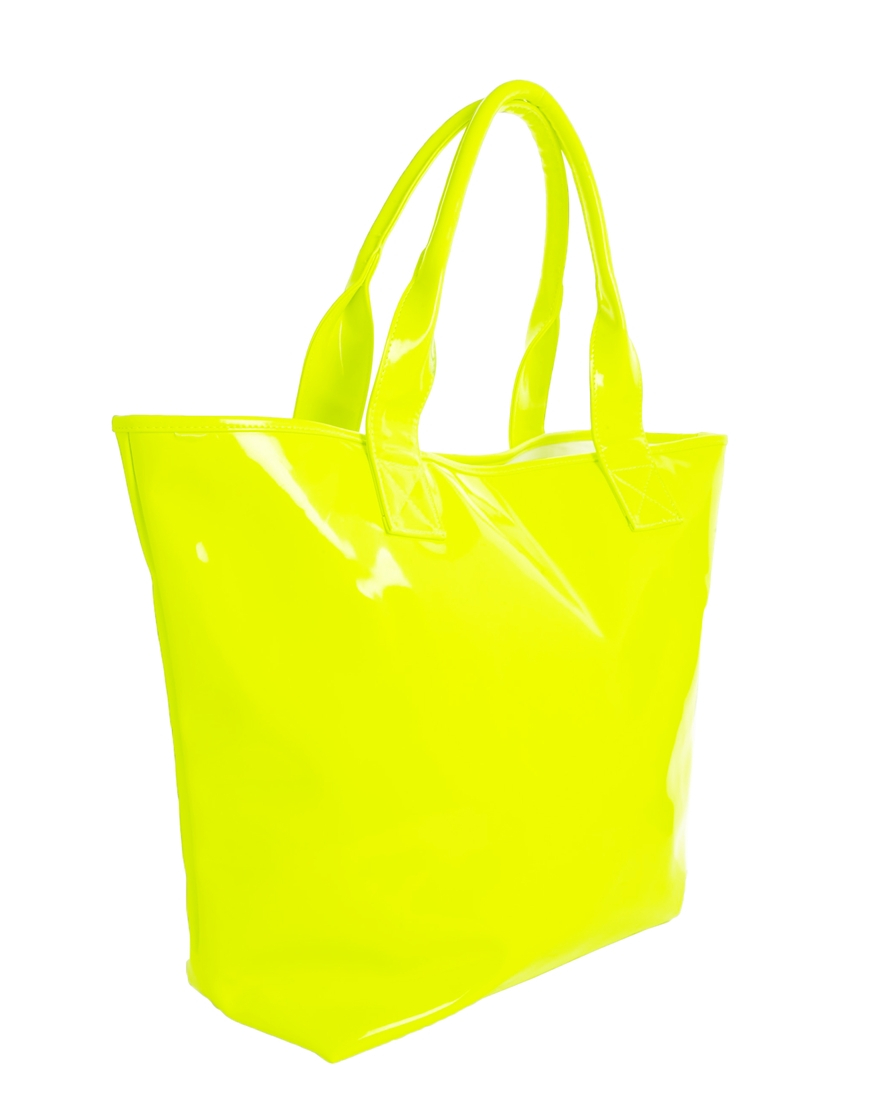 Seafolly Beach Tote Bag in Lime in Yellow | Lyst