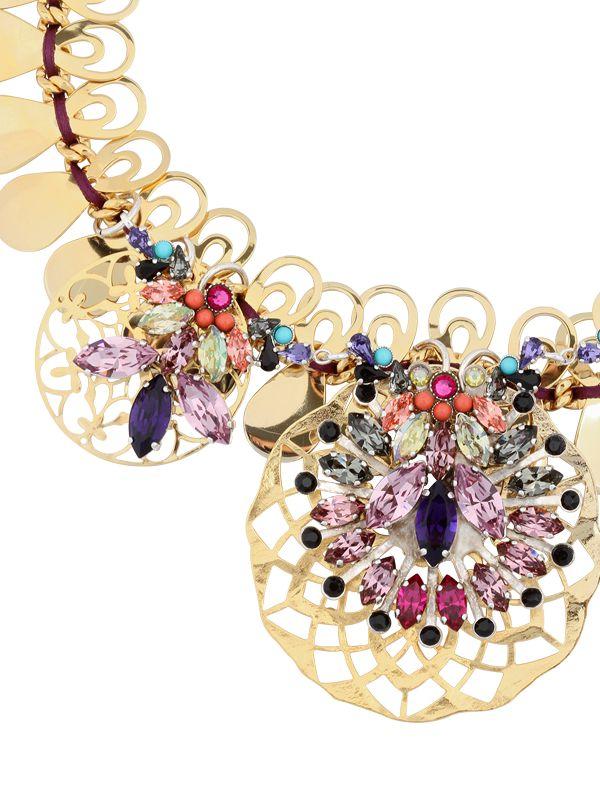 La Perla Mandala Necklace in Metallic