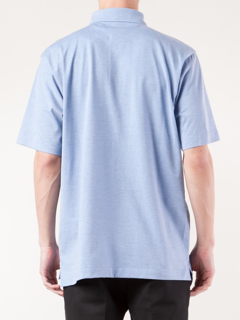 ermenegildo zegna polo shirt in blue for men lyst. Black Bedroom Furniture Sets. Home Design Ideas