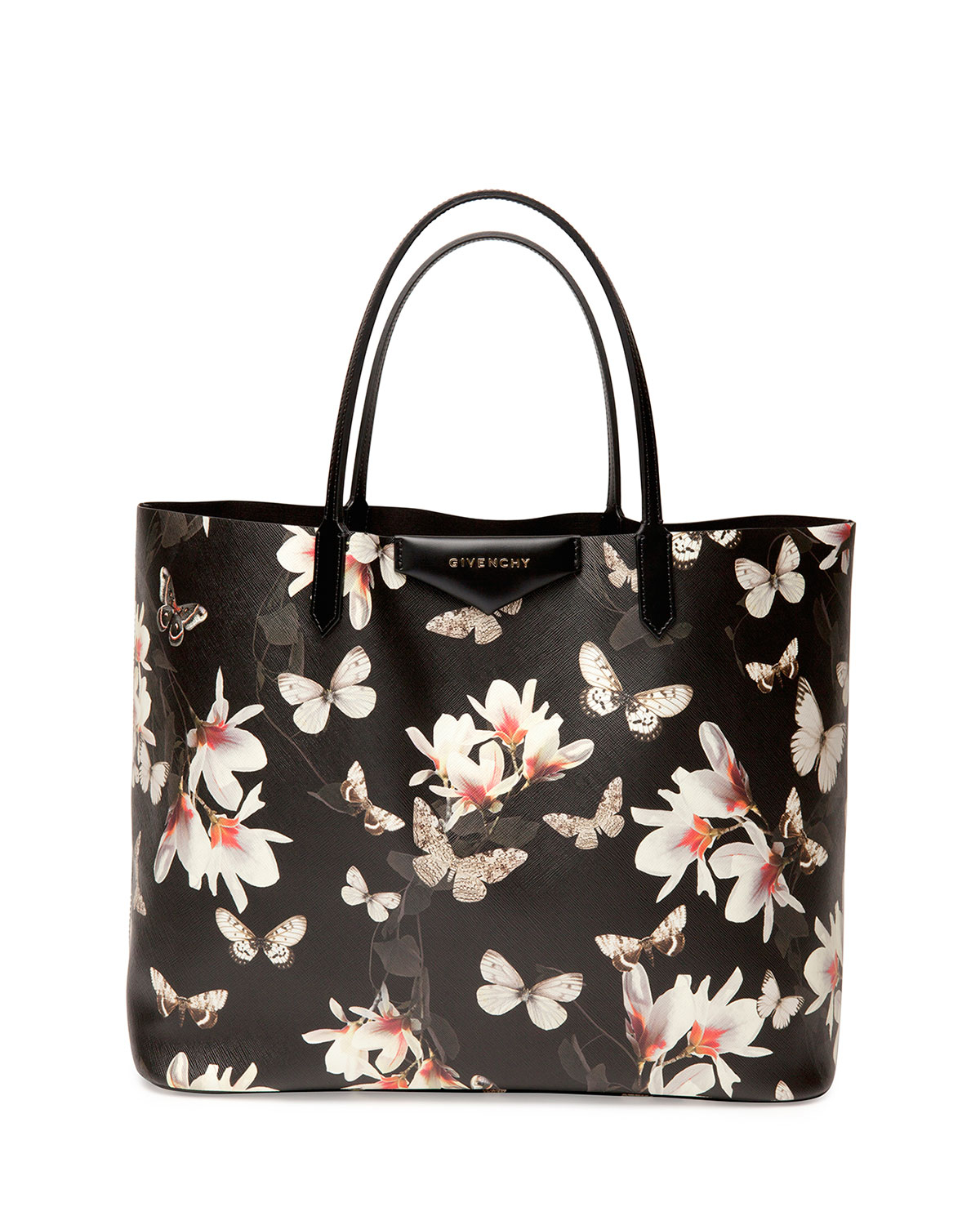 Givenchy Magnolia Tote In Floral Black Lyst