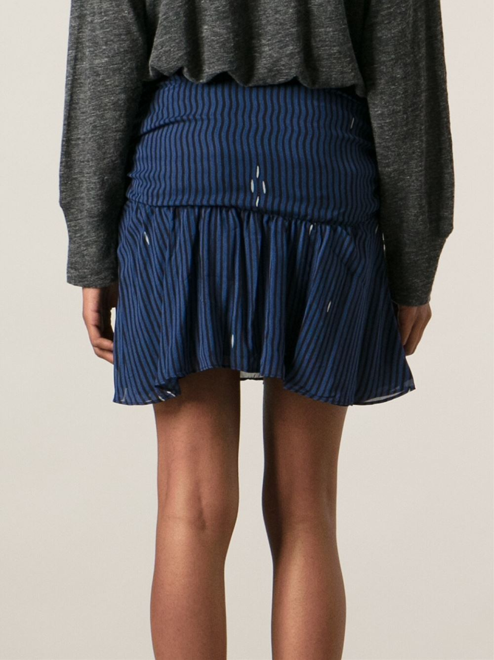 Étoile isabel marant Ruched Skirt in Blue