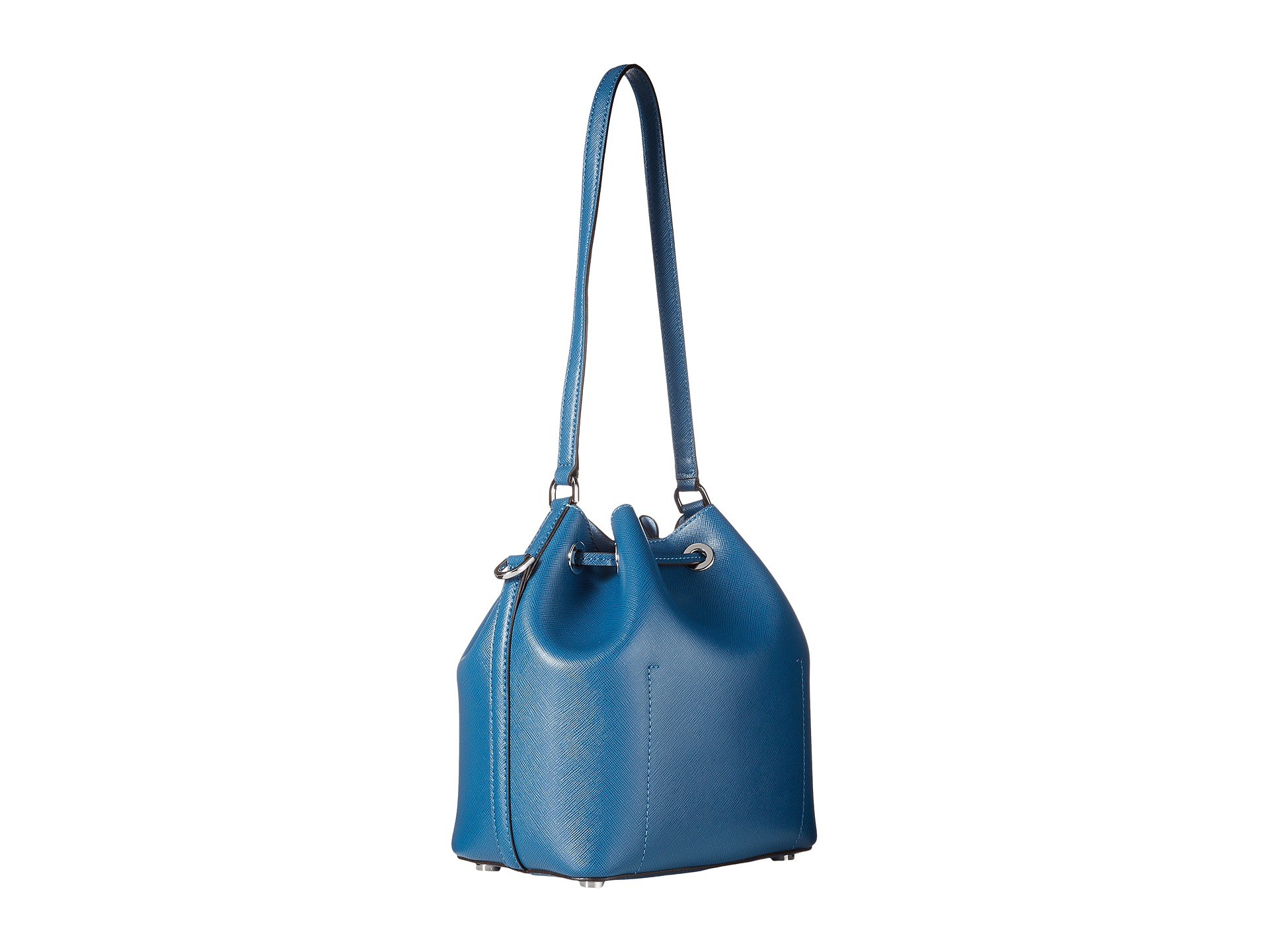 1ff7f44b5e861 Lyst - MICHAEL Michael Kors Greenwich Medium Bucket Bag in Blue