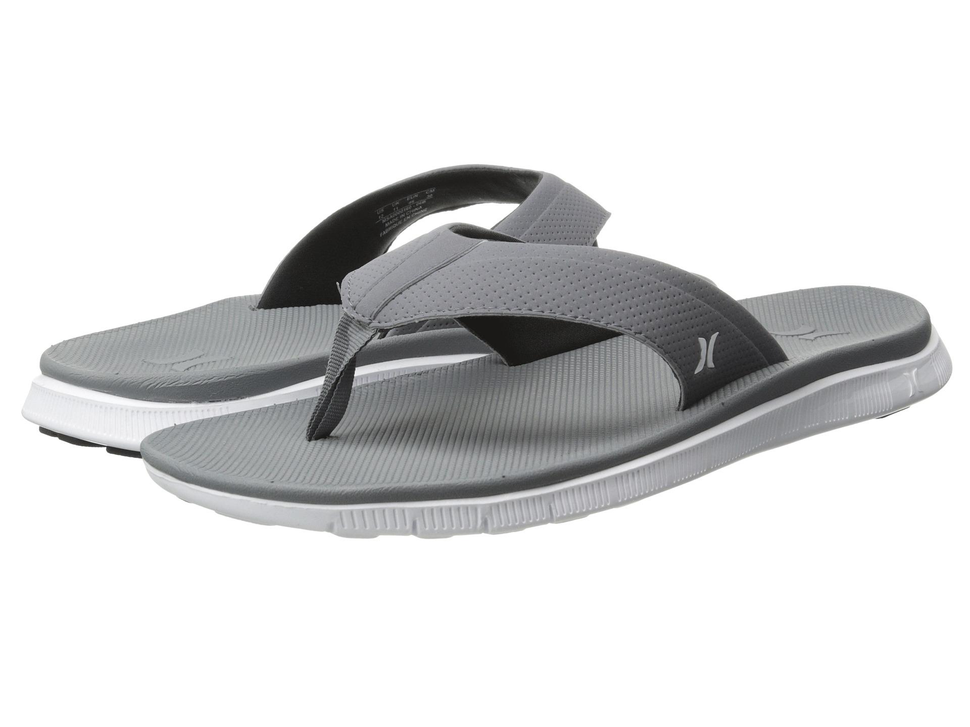 9044bef1d Hurley Flex Sandal in Gray - Lyst