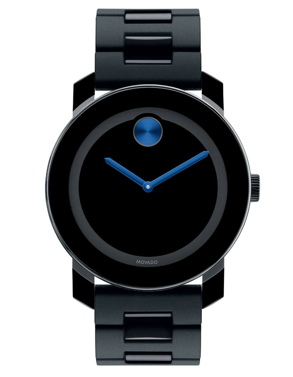 Movado bold Mens Black Stainless Steel Watch With Electric ...