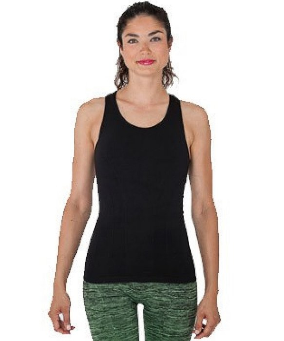 Electric Yoga Shakra Tank In Black