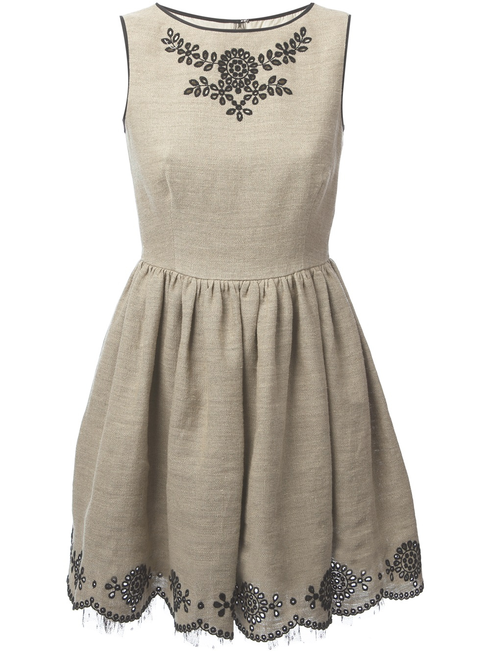 Lyst Red Valentino Jute Dress In Natural