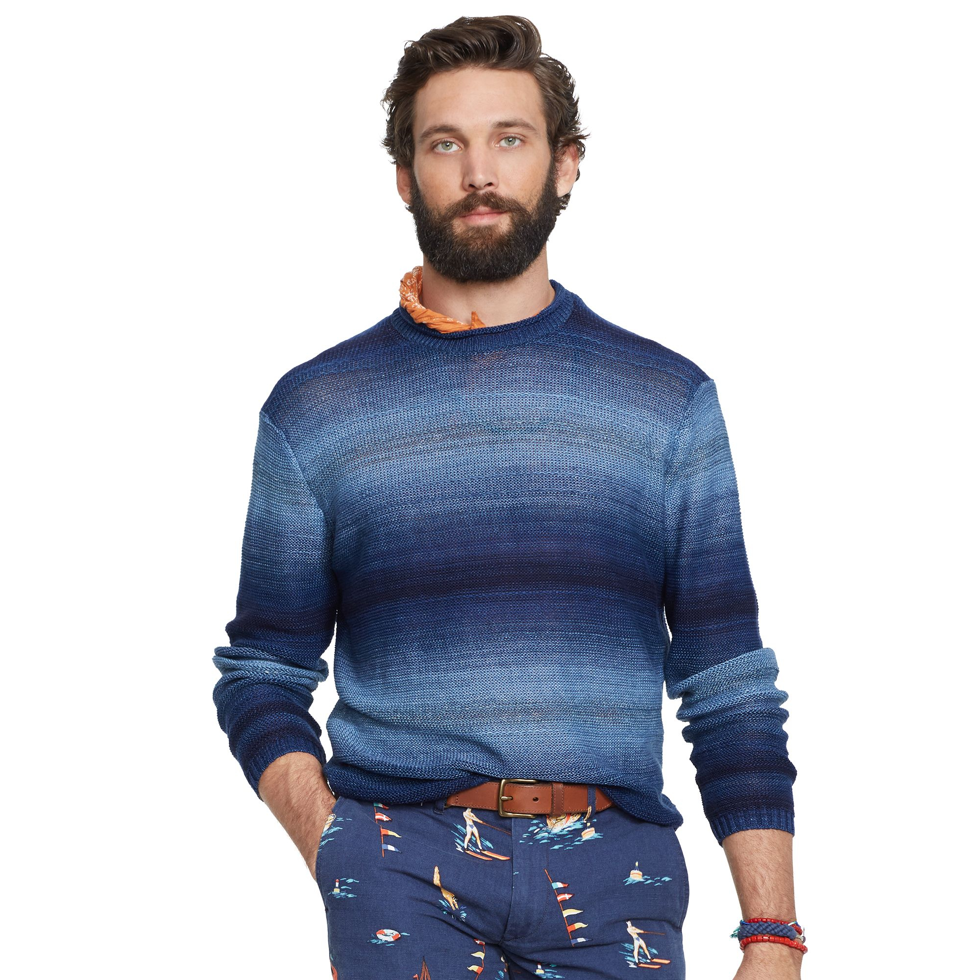 42eb4da7b Polo Ralph Lauren Ombré-Striped Sweater in Blue for Men - Lyst