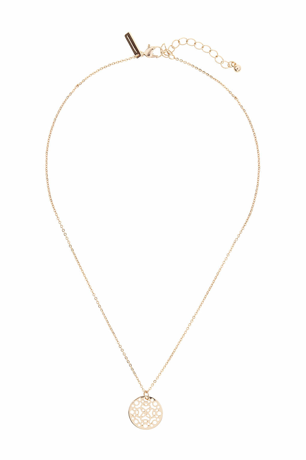 Topshop Rose Gold Plated Disc Ditsy Necklace In Pink Lyst