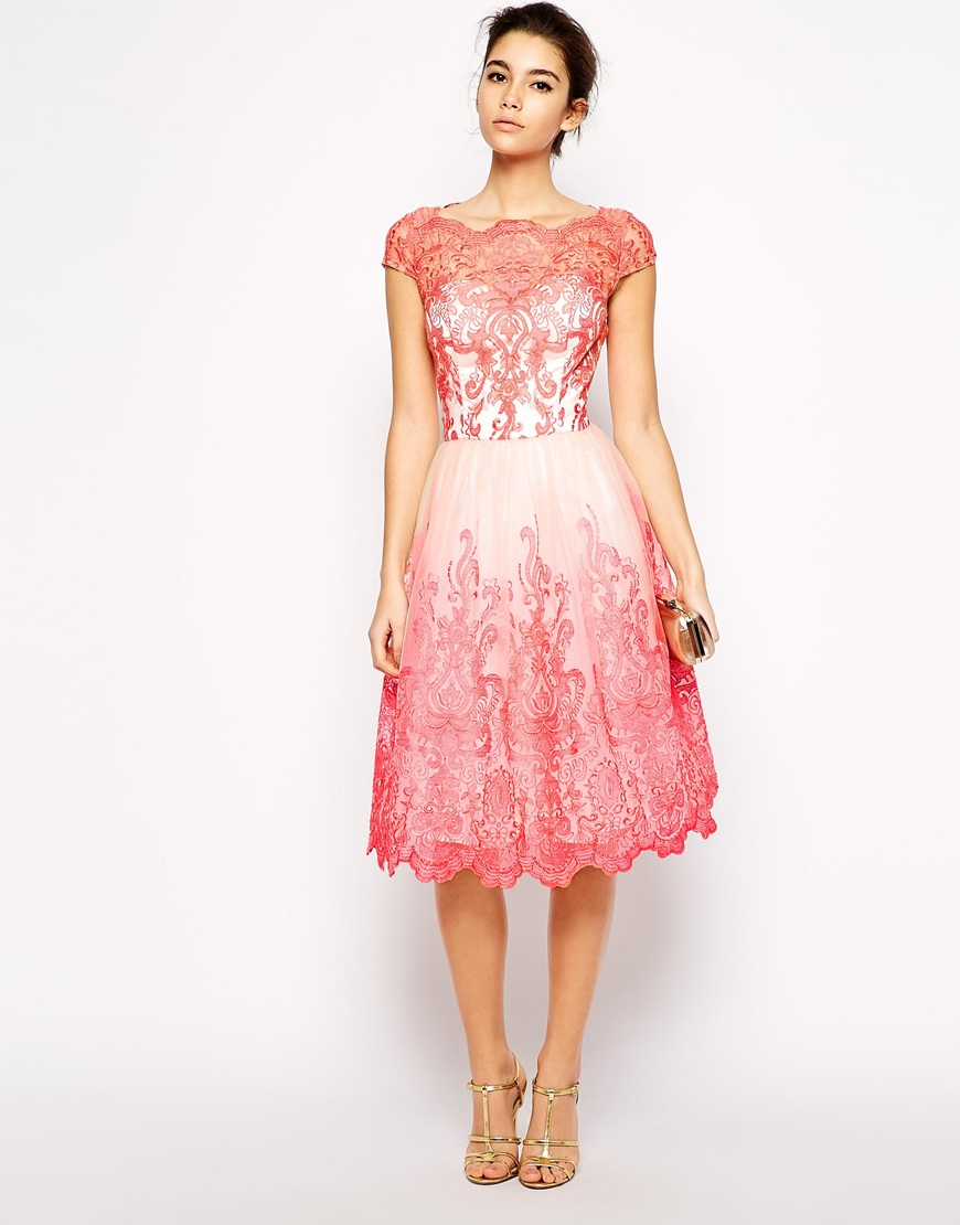 Lyst Chi Chi London Premium Embroidered Lace Prom Dress