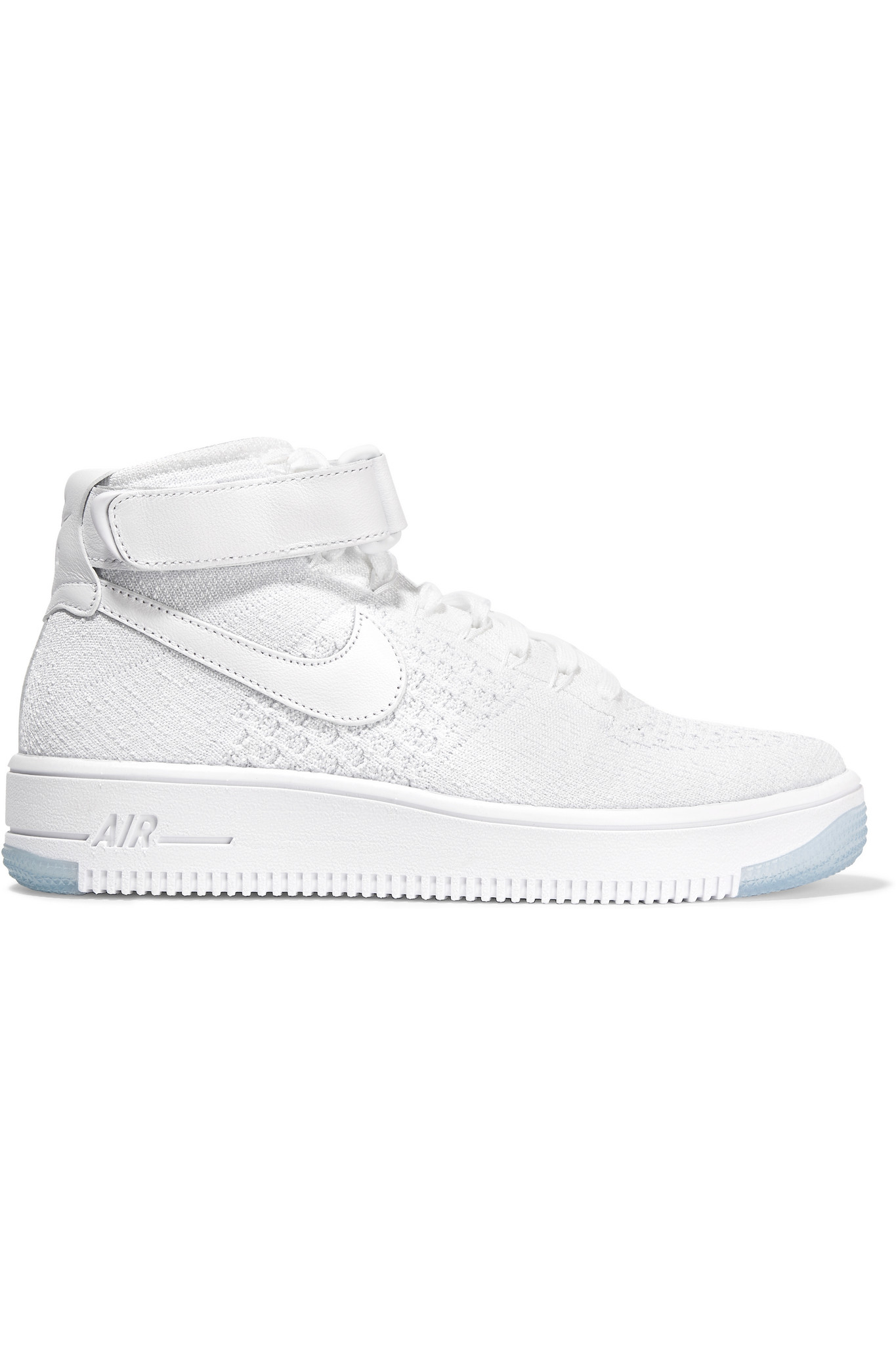Nike Air Force 1 Flyknit Mesh And Textured-leather Sneakers in ...