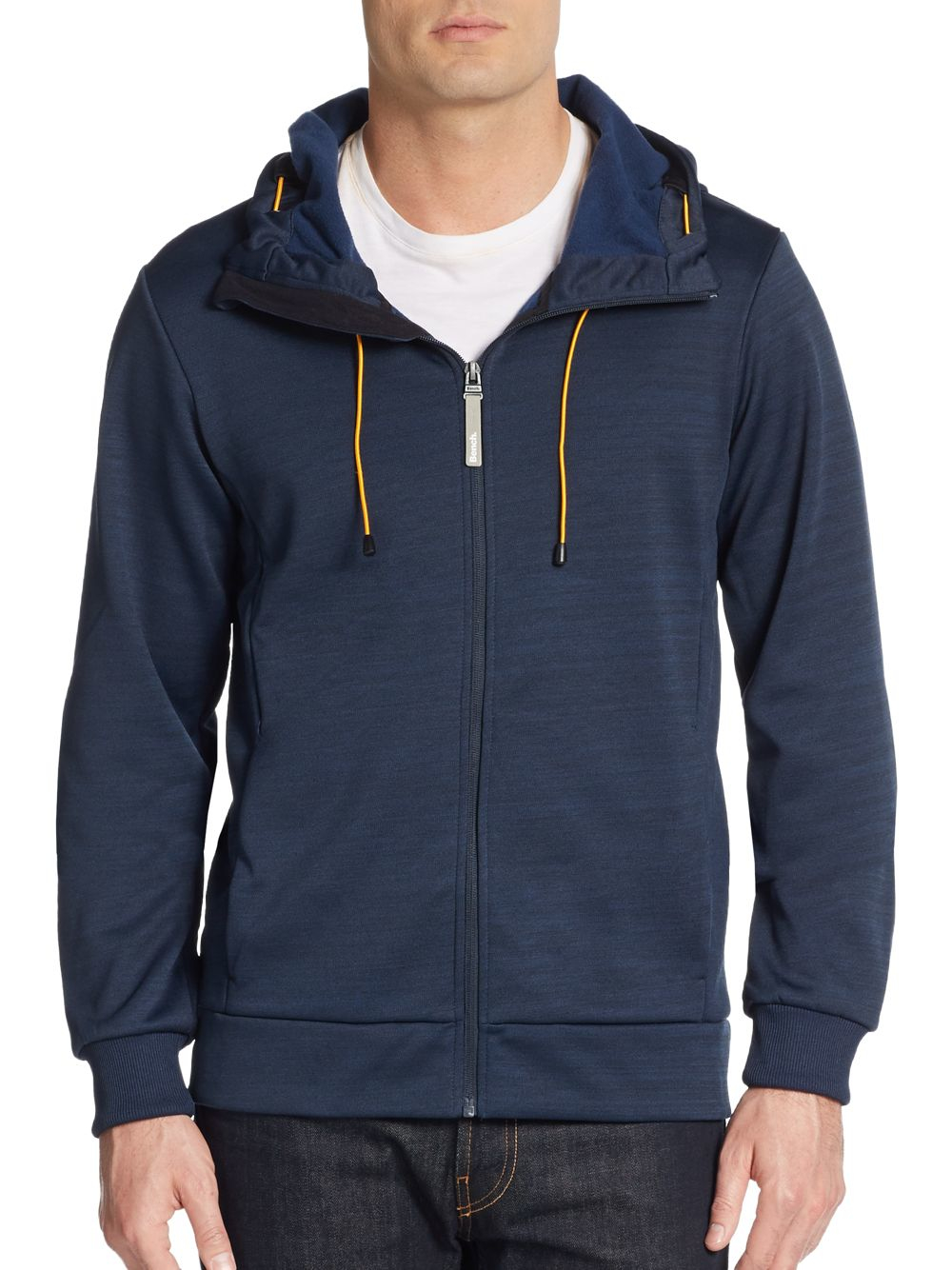 Bench Attrition Hoodie In Blue For Men Lyst