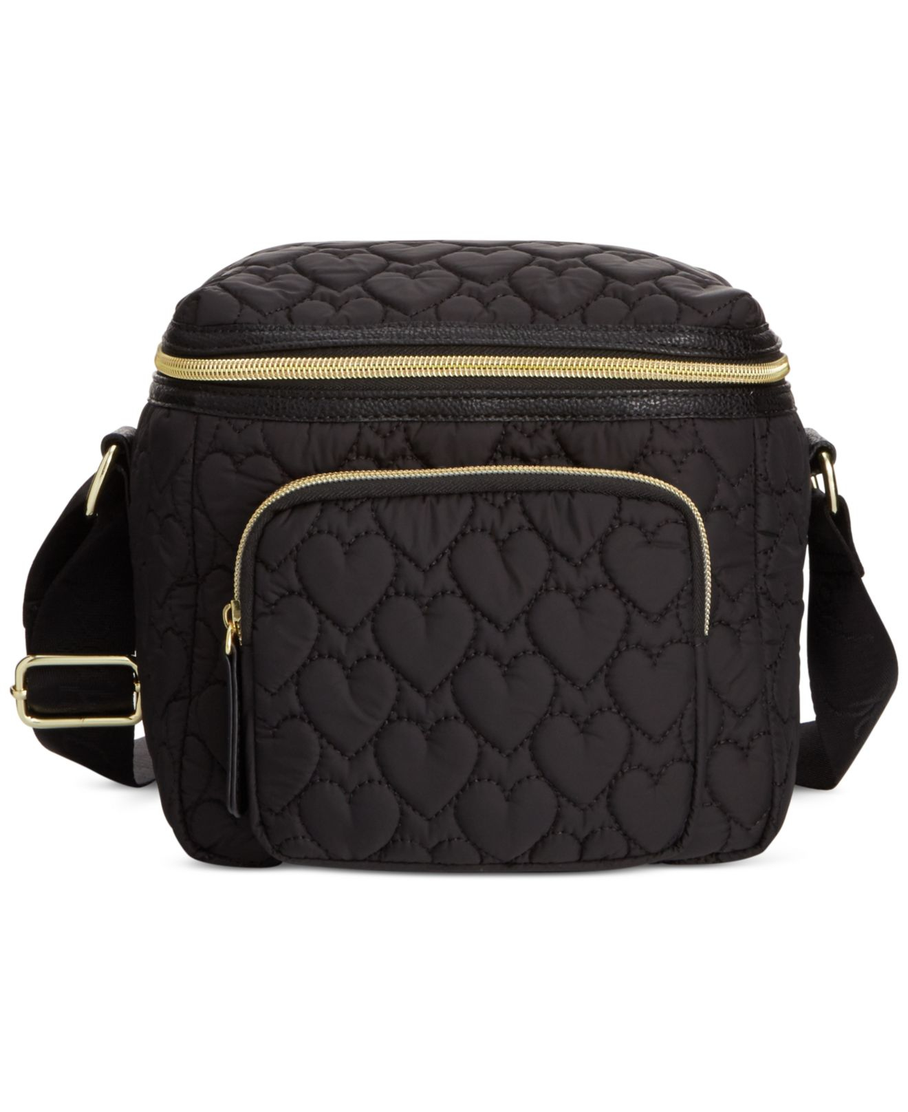 Betsey Johnson Cire Quilted Nylon Lunch Tote In Black Lyst