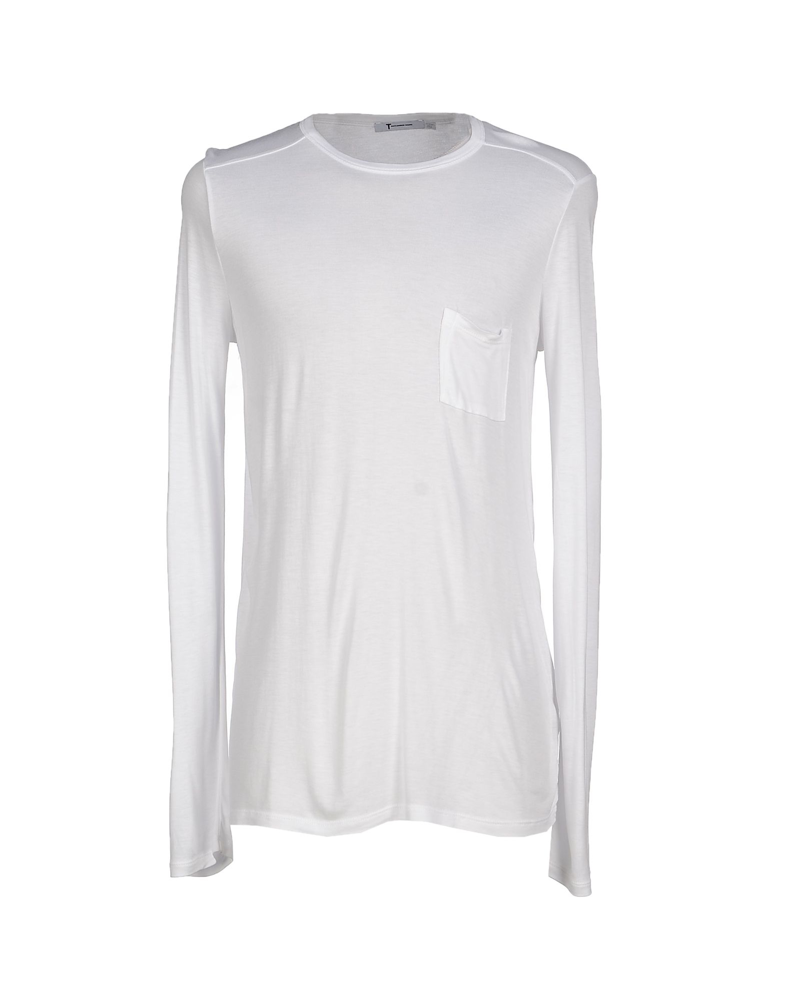 T by alexander wang t shirt in white for men lyst for T by alexander wang t shirt