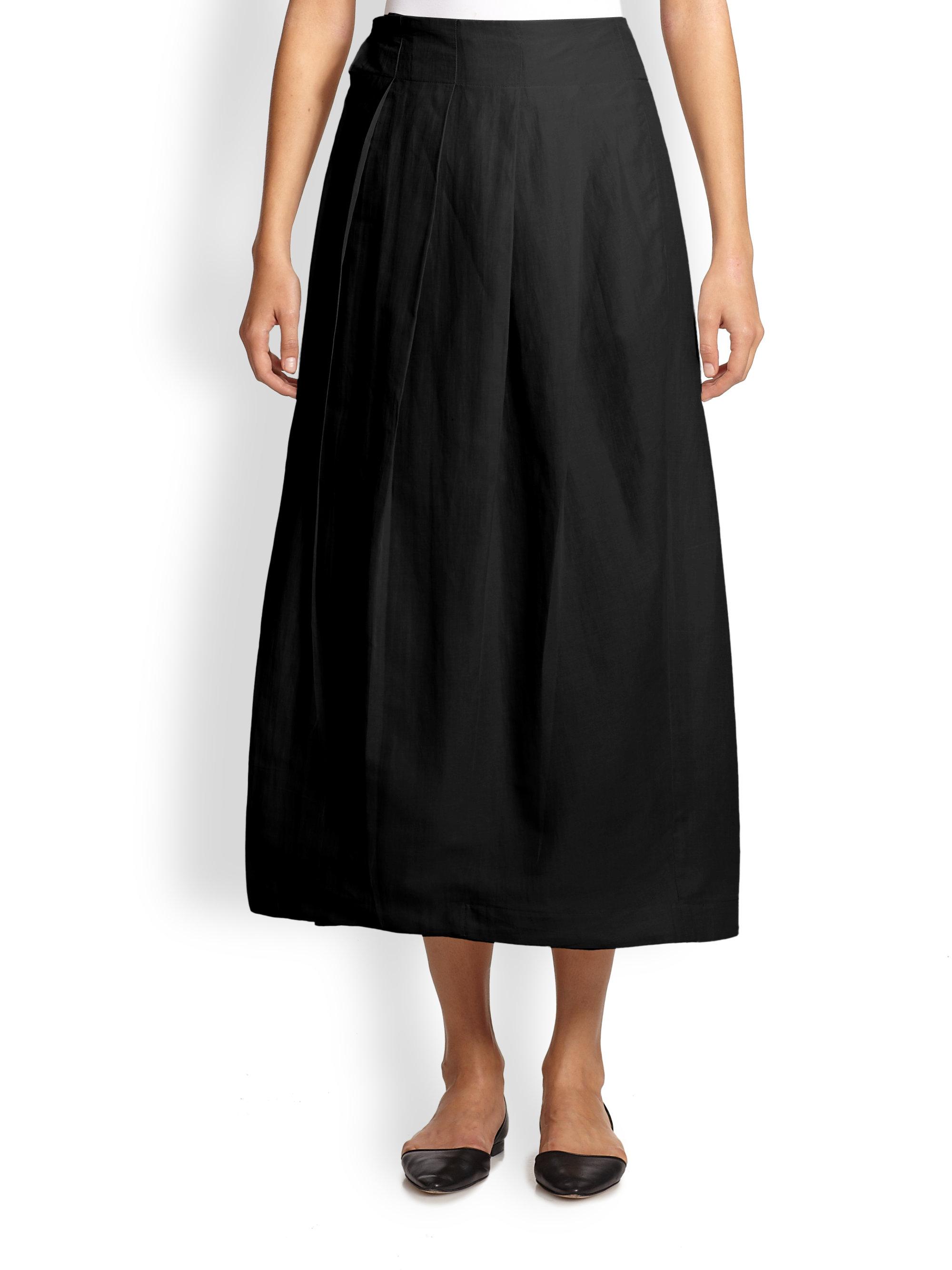 max mara jeff pleated midi skirt in black lyst