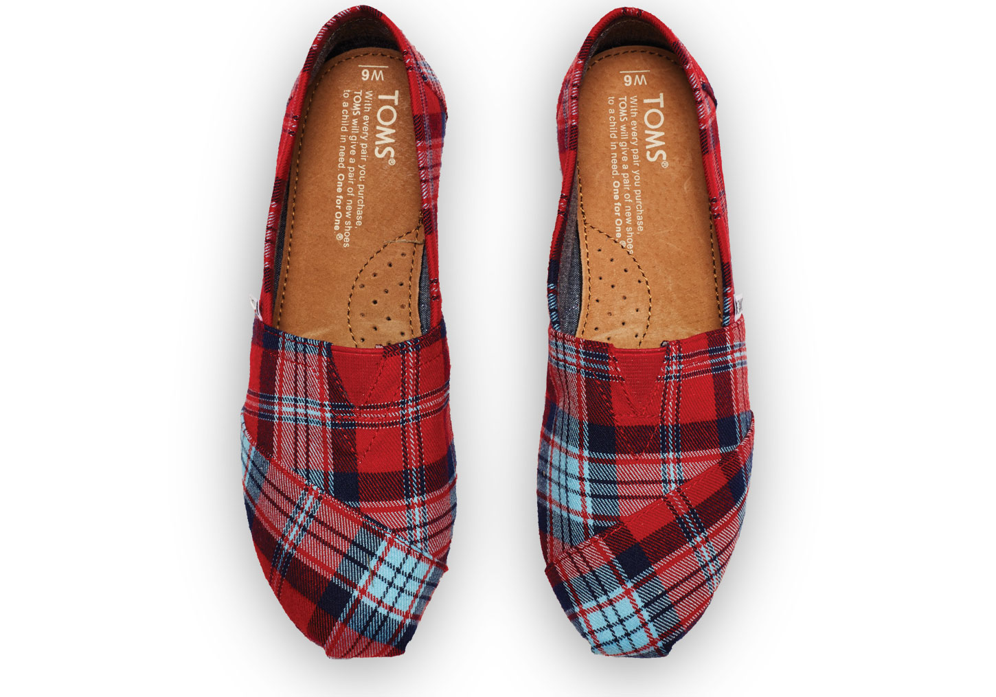 0d238b5e38dd Lyst - TOMS Red Woven Plaid Women s Classics in Red