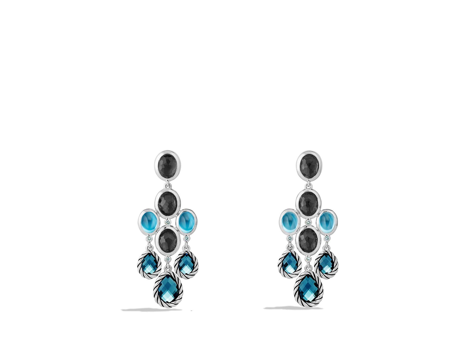 Lyst david yurman ultramarine chandelier earrings with blue topaz gallery aloadofball Image collections