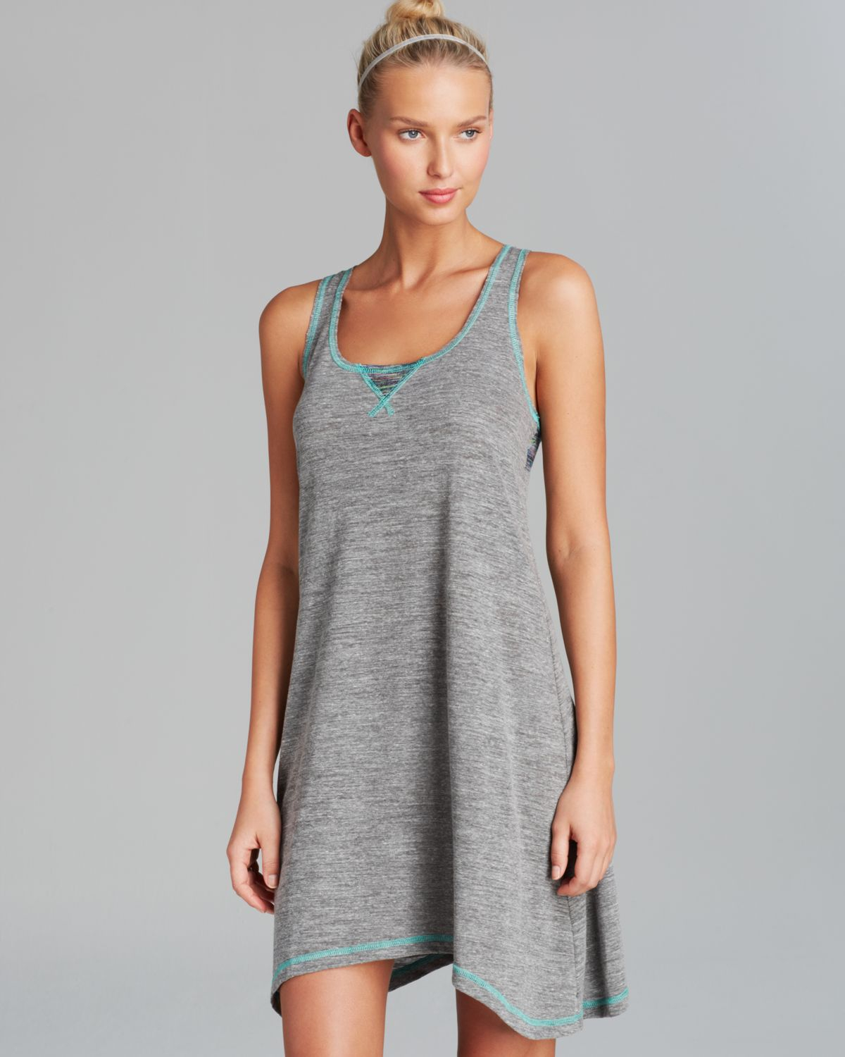f1769b099 Lucky Brand The Strand Tank Dress Swim Cover Up in Gray - Lyst