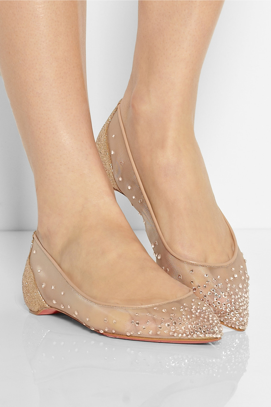 Christian Louboutin Body Strass Embellished Mesh Point Toe