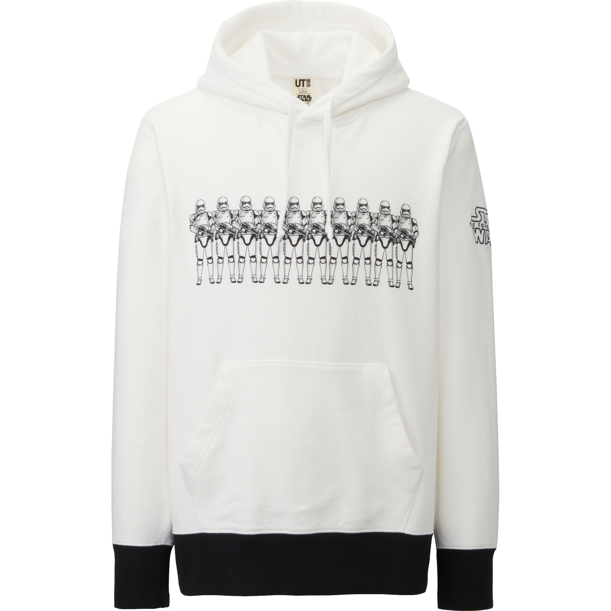 uniqlo men star wars long sleeve sweat pullover hoodie in white for men lyst. Black Bedroom Furniture Sets. Home Design Ideas