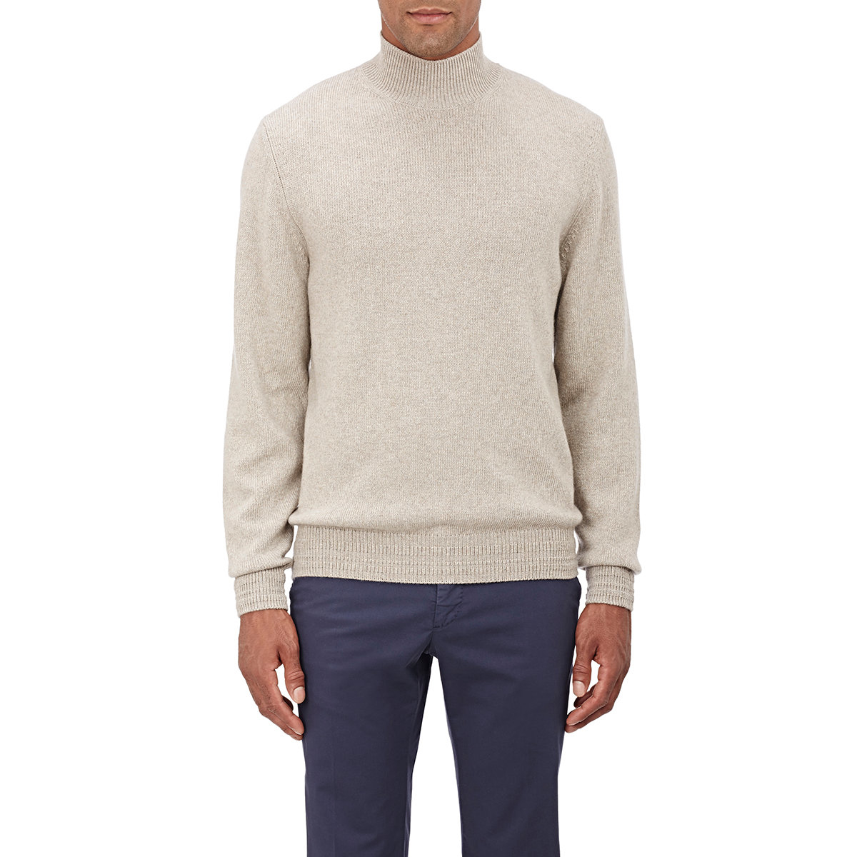 Brioni Mock Turtleneck Sweater in Natural for Men | Lyst