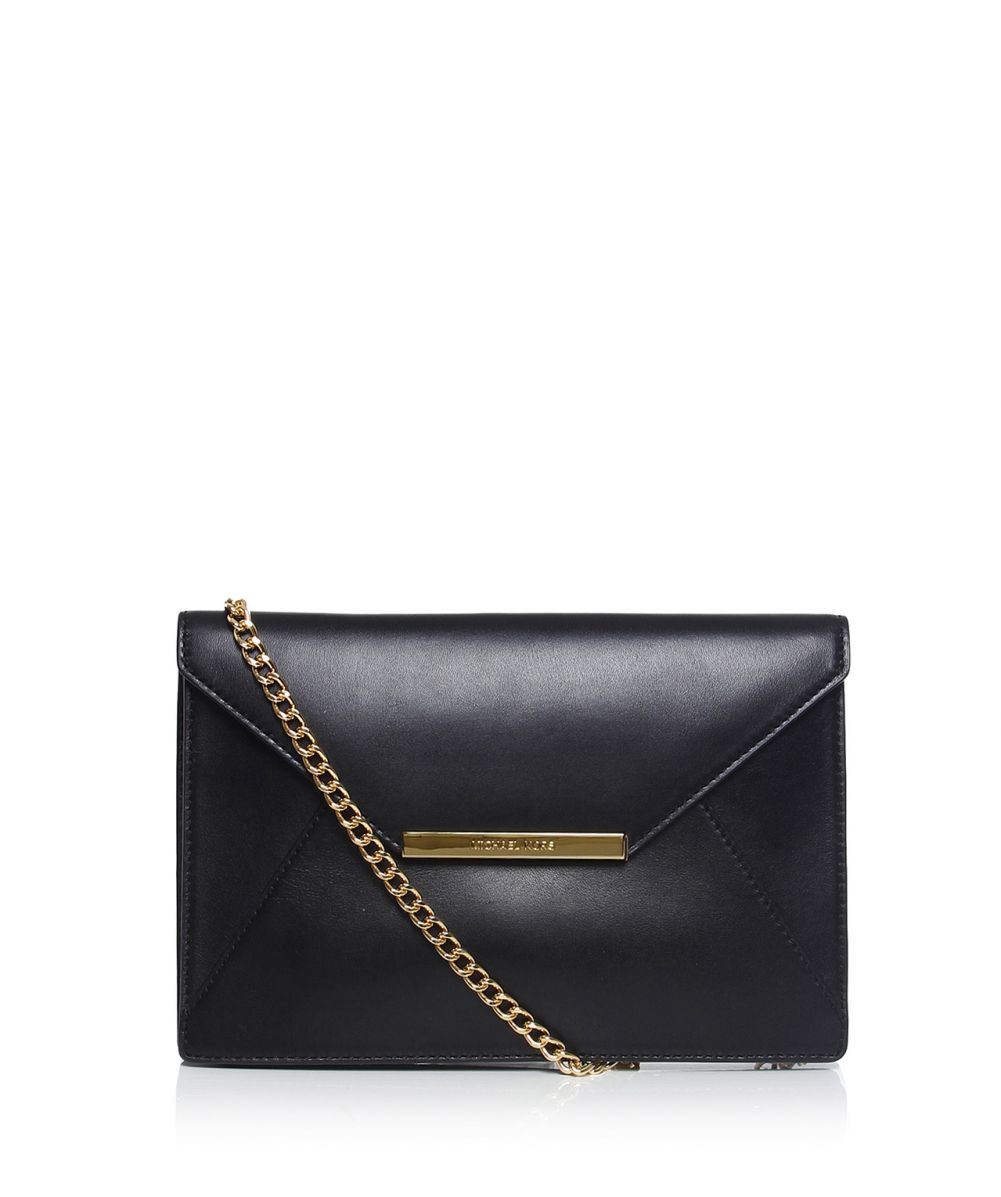 michael michael kors lana envelope clutch bag in black lyst. Black Bedroom Furniture Sets. Home Design Ideas