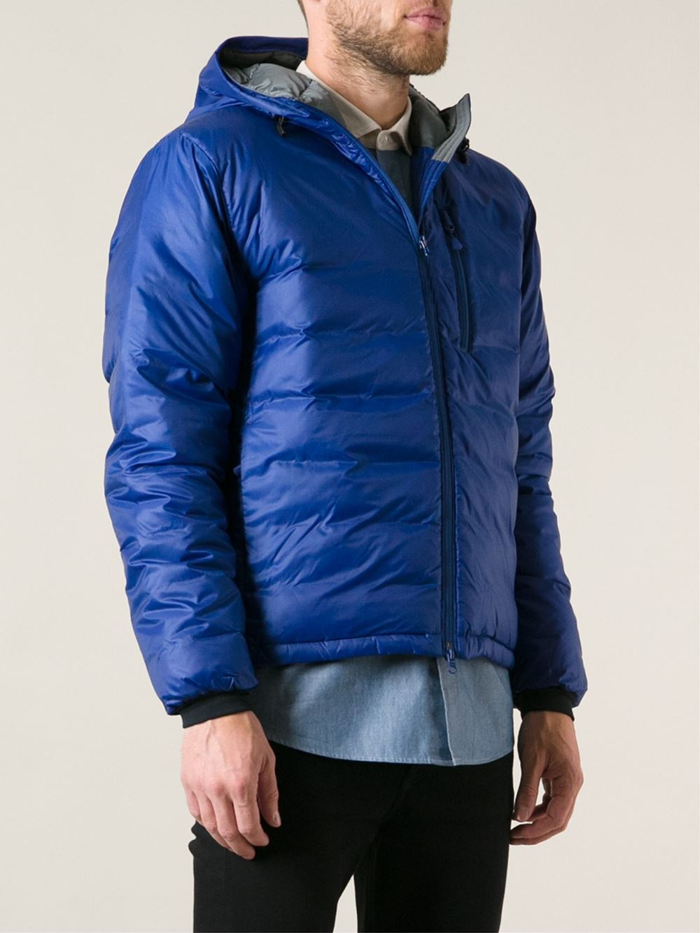 Canada Goose Lodge Hoody Padded Jacket In Blue For Men Lyst