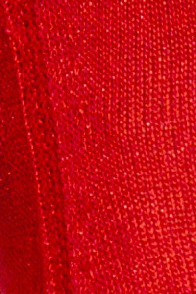 Women'S Lurex Red Sweater 8