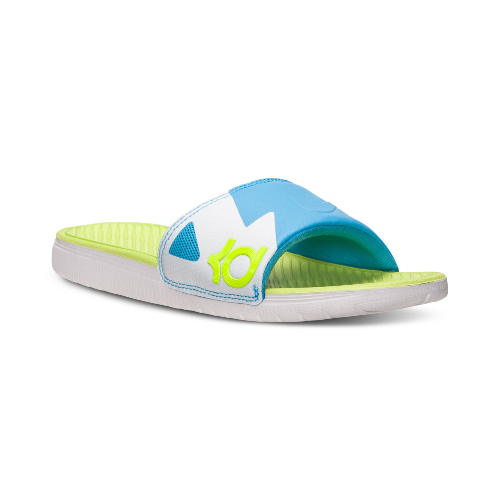 d4be484f722e Lyst - Nike Mens Solarsoft Kd Slide Sandal From Finish Line in Blue ...