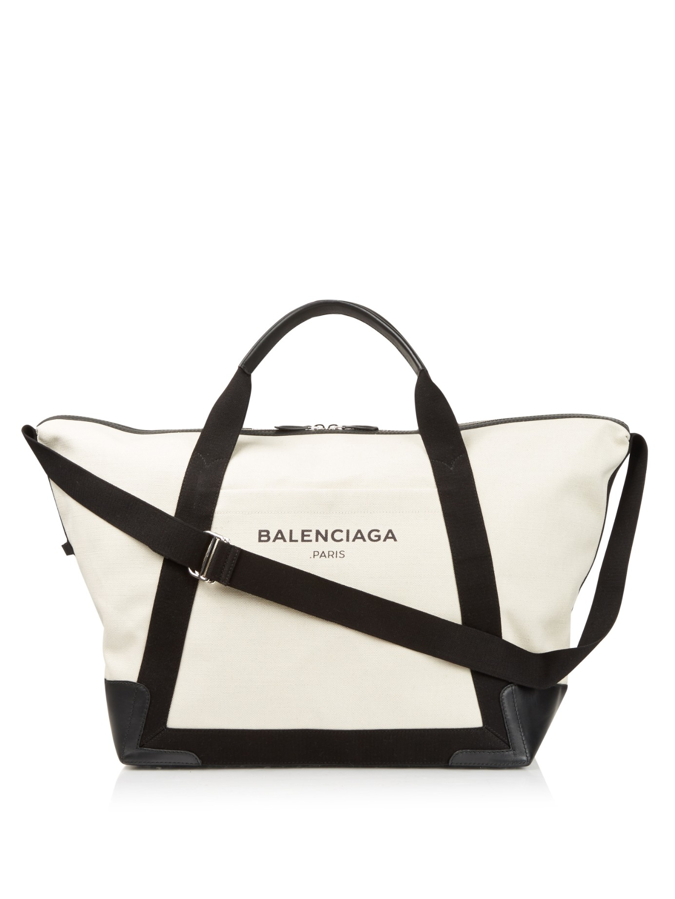 4bf247a18e5b Lyst - Balenciaga Ligne Large Cotton-Canvas Weekender Bag in Black