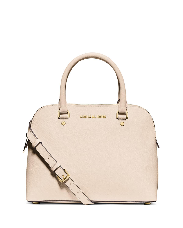 d6731f8d737e ... order lyst michael michael kors cindy medium leather satchel bag in  pink b8fe5 f823c