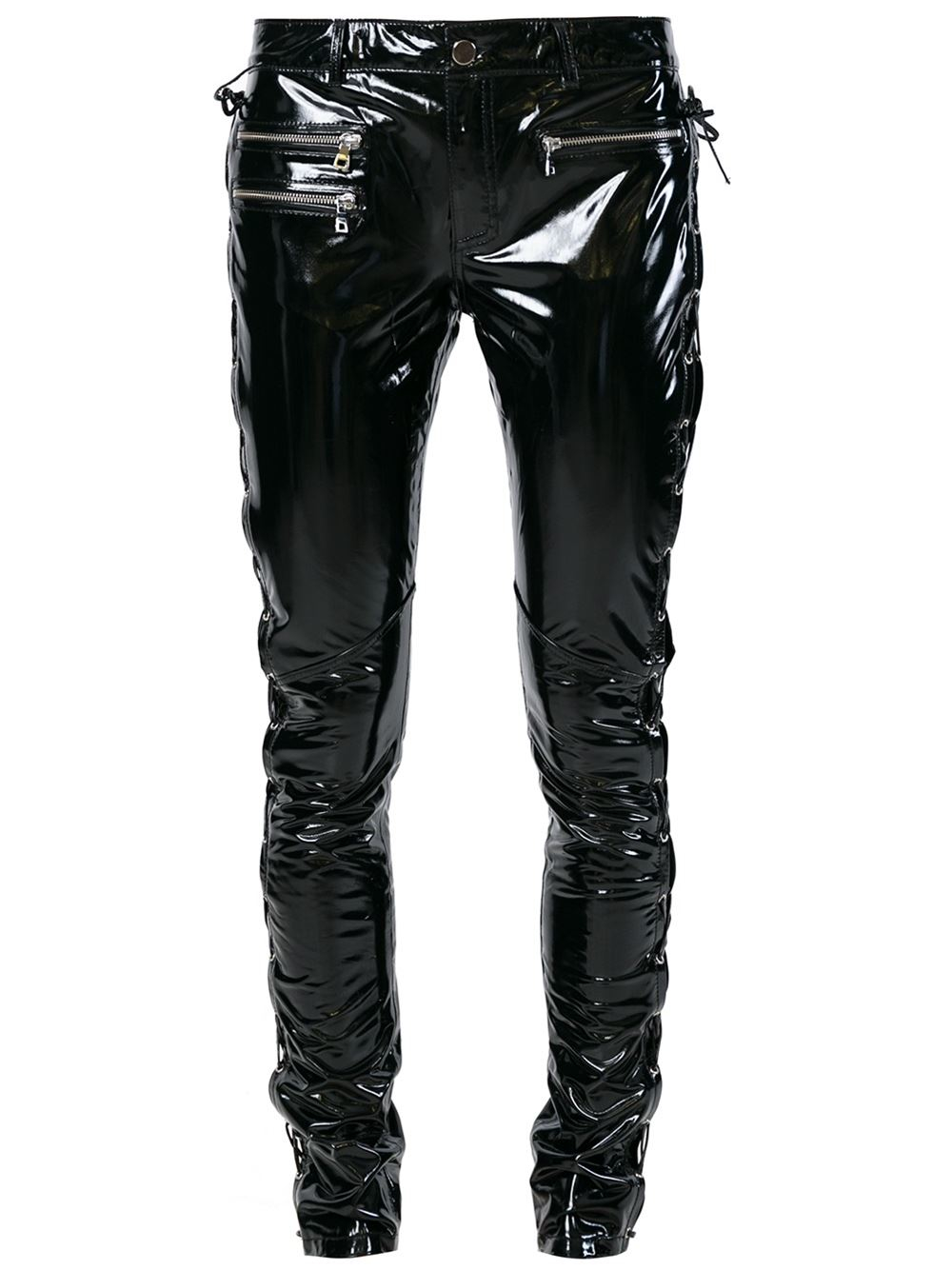 Lyst Filles A Papa Vinyl Pants With Laging Details At