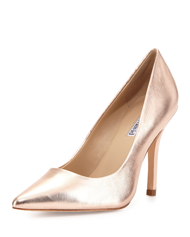 charles david swayy ii metallic leather high heel pump in pink lyst. Black Bedroom Furniture Sets. Home Design Ideas