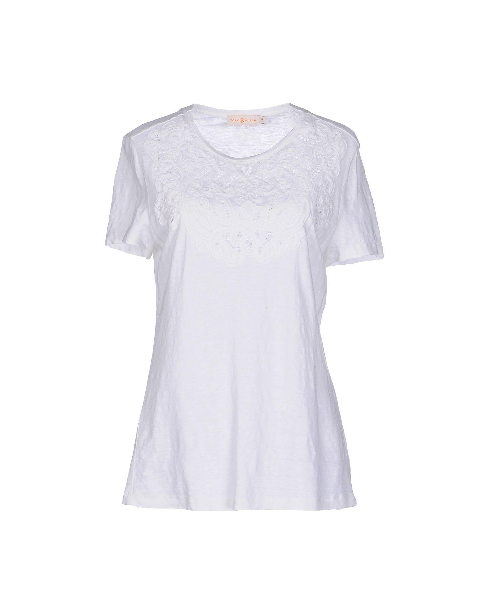 Lyst tory burch t shirt in white for Tory burch t shirt