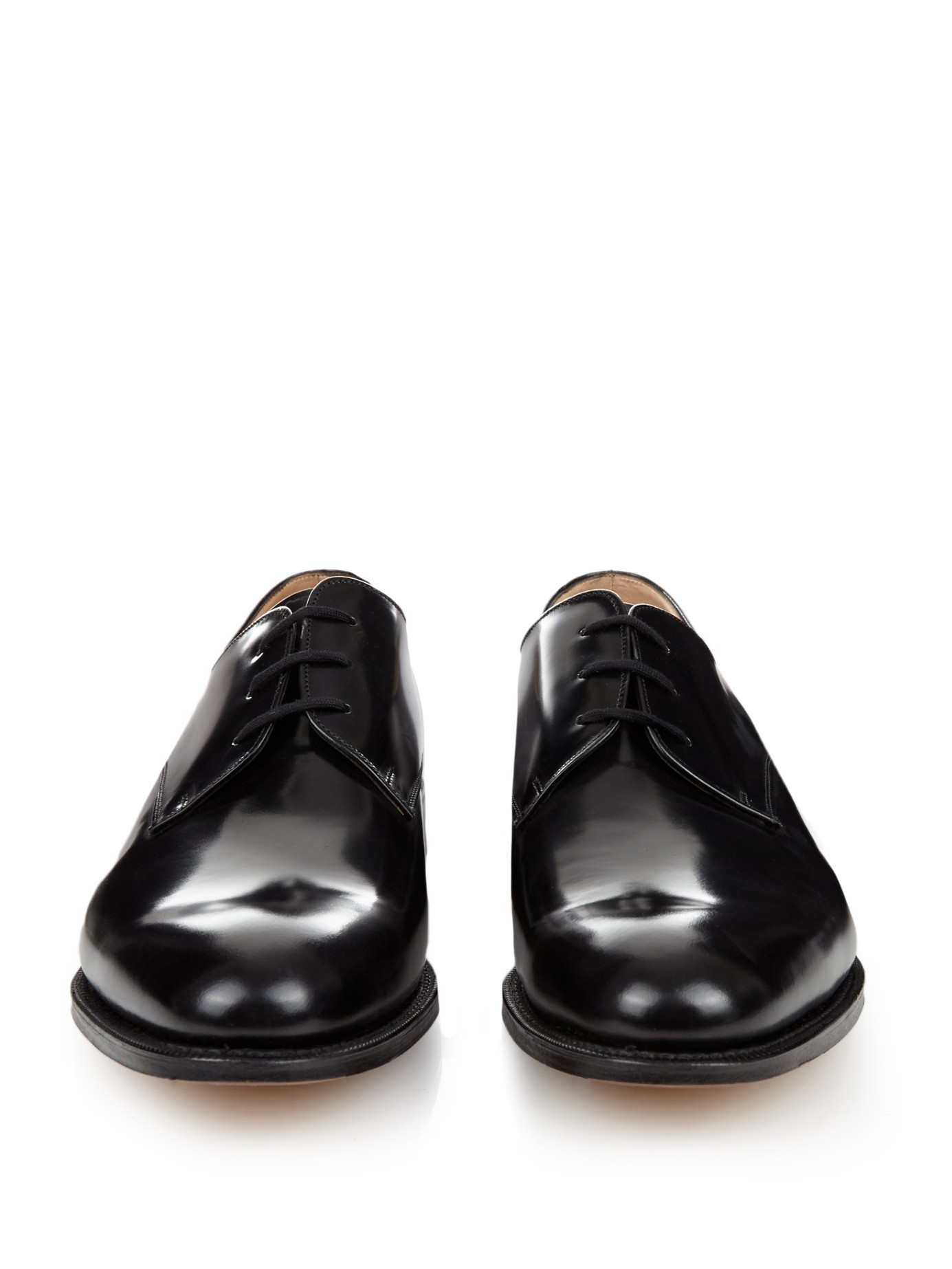 church s oslow leather derby shoes in black for lyst