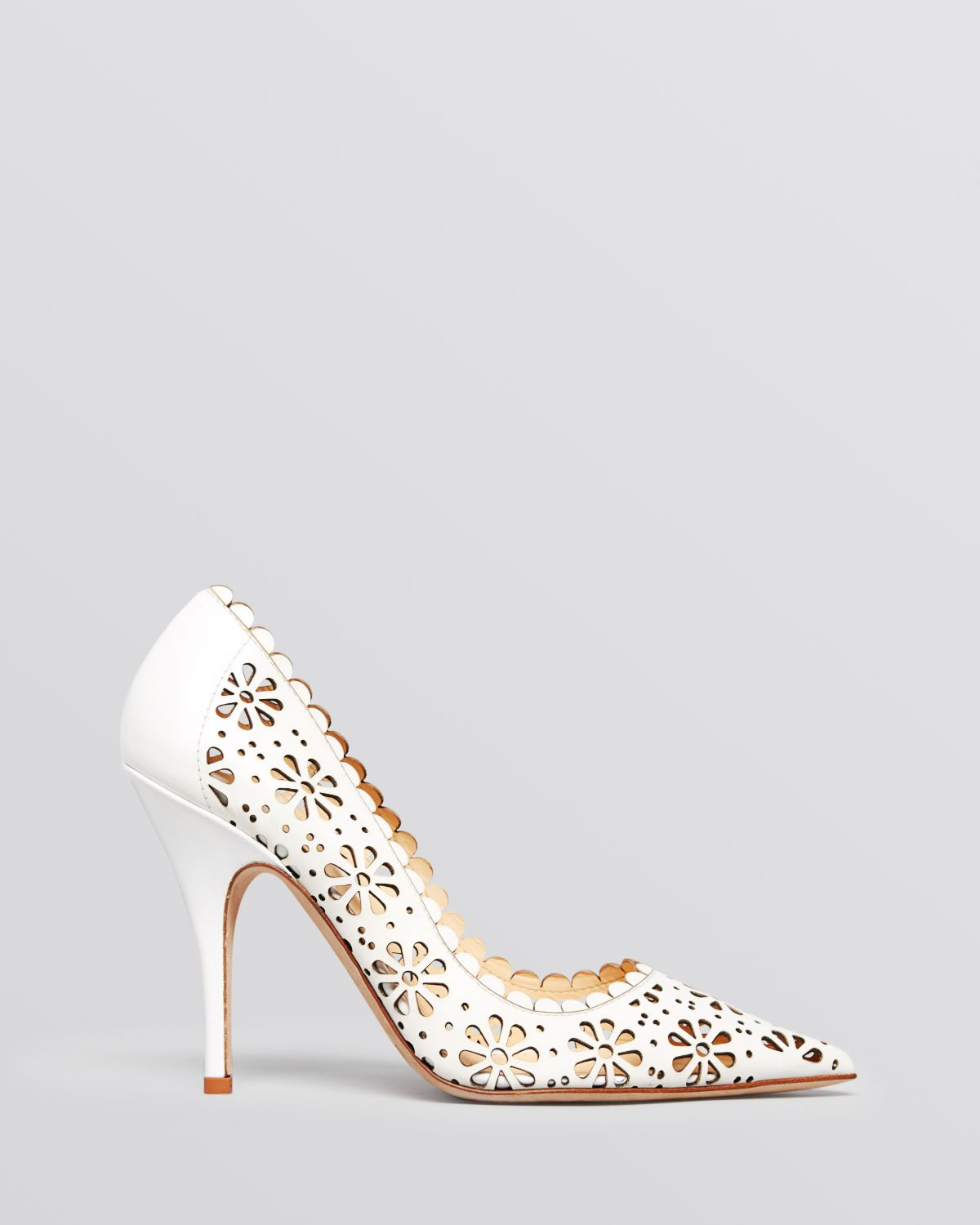 a8a89a722973 Lyst - Kate Spade Pointed Toe Pumps - Lana High Heel in White