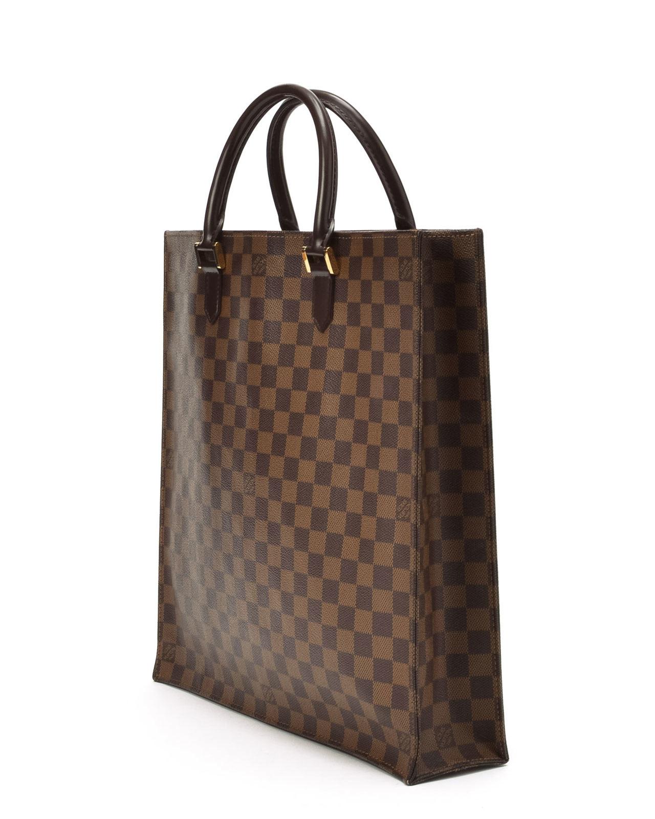 4d23335d58ad Lyst - Louis Vuitton Damier Ebene Sac Plat Handbag in Green