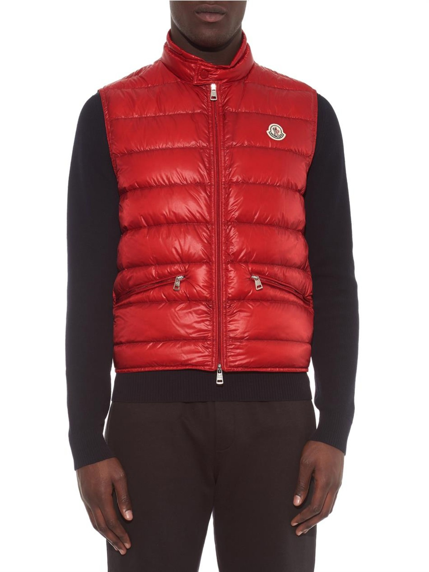 3db59ba16 Moncler Red Gui Quilted Down Gilet for men