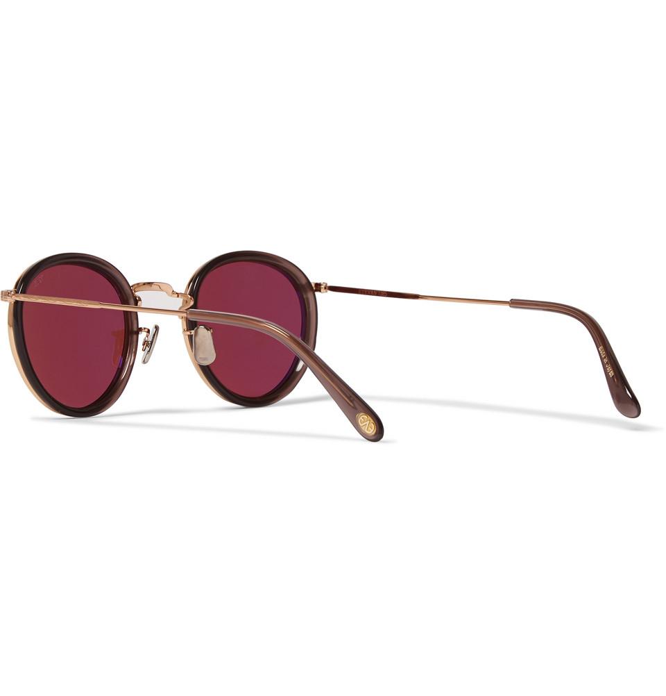 765 Round-frame Gold And Silver-tone Titanium Sunglasses Eyevan 7285 gdIBINcn