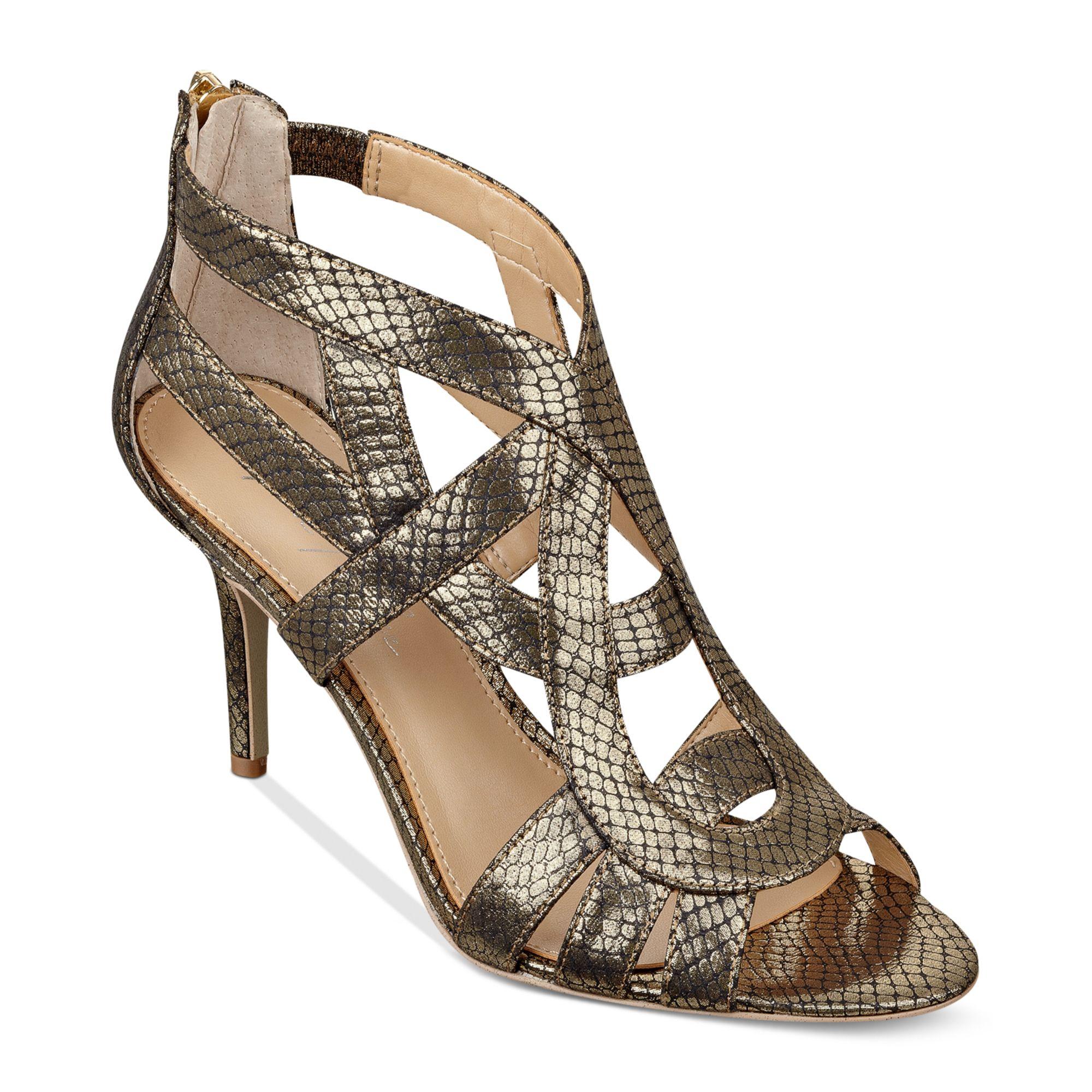Lyst Marc Fisher Nala Sandals In Metallic