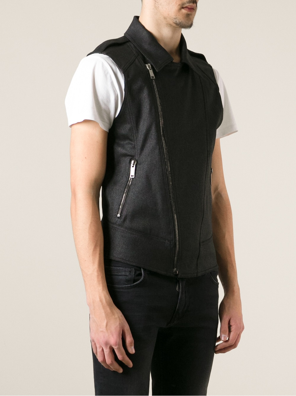 harmonious colors outlet sale low priced Gareth Pugh Sleeveless Biker Jacket in Black for Men - Lyst